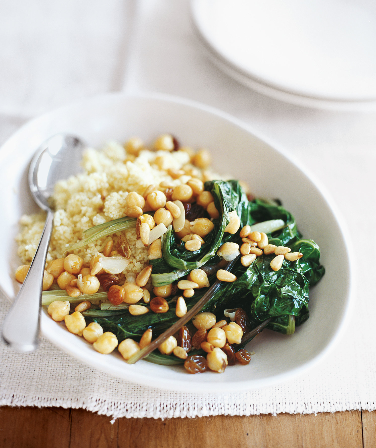 Swiss Chard With Chickpeas and Couscous – Almost Vegan